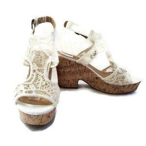American Eagle Cork Heel Platform Sandal Size 9.5